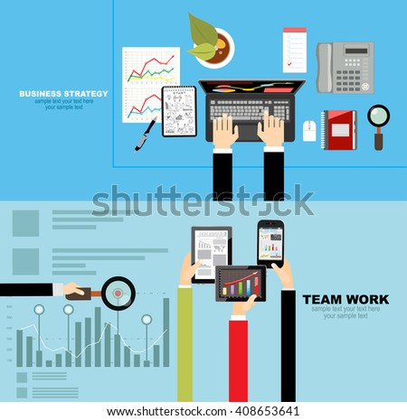 Set of flat design illustration concepts for business, finance, consulting, management, human resources, career,team work, staff training. Concepts for web banner and printed materials. - stock vector