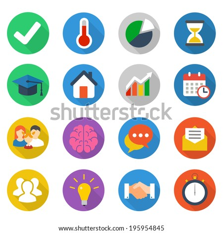 Set of flat icons. - stock vector