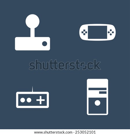 Set of flat vector icons.  Icons for Web and Mobile Application. EPS 10. - stock vector