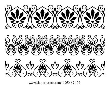 Set of floral vintage embellishments for ornate and decoration. Jpeg version also available in gallery - stock vector