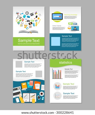 Flyer design business brochure template annual stock for Brochure design templates for education
