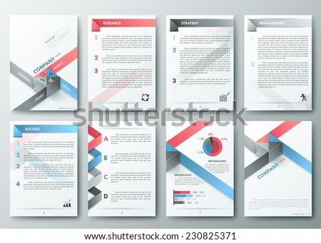 Set of Flyer, Brochure Design Templates. Geometric Triangular Abstract Modern Backgrounds. Mobile Technologies, Applications and Online Services Infographic Concept - stock vector