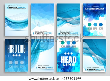 Set of Flyer Design, Infographics Brochure Designs, Technology Backgrounds. Mobile Technologies, Teamworksand statistic Concepts and Applications covers. - stock vector