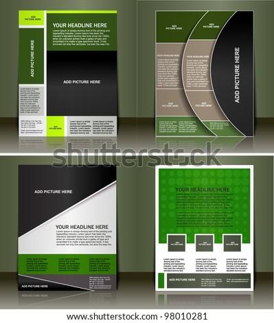 Set of flyer design vector - stock vector