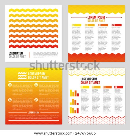 Set Of Flyer Layout Design Templates - stock vector