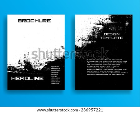 Set Flyer Templates Brochure Design Abstract Stock Vector 236957221