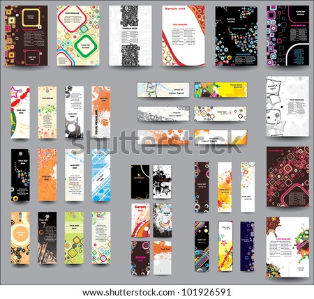 Set of flyers , banners , labels . - stock vector
