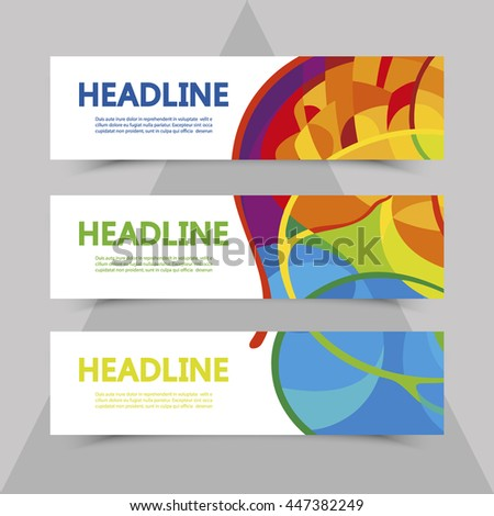 Set of flyers with abstract background in colors of rio 2016 Olympic games. Summer Sport Brazil. Olympics banner, brochure, leaflet, booklet, poster. Olympiad. Official ceremony. Gold medal event - stock vector