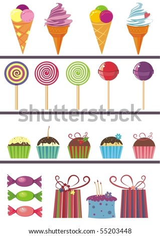 set of food icons - stock vector