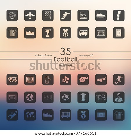 Set of football icons - stock vector
