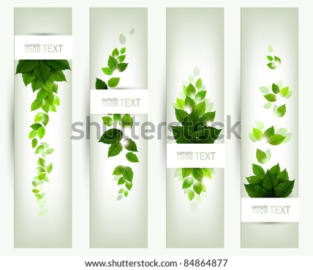 set of four banners - stock vector