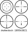 Set of four black crosshair. eps10 - stock vector