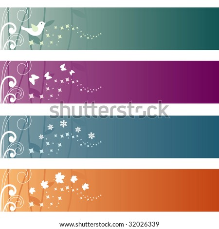 Set of four elegant banners. - stock vector