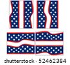 Set of Four Fourth of July Backgrounds - stock vector