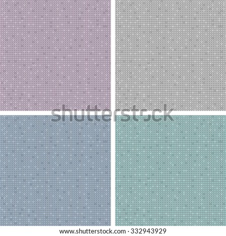 Set of four melange jersey textures