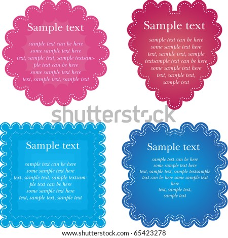 Set of four napkin. Vector illustration. - stock vector