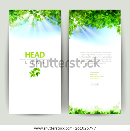 set of four natures banners - stock vector