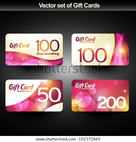 Gift card stock images royalty free images vectors shutterstock set of four shiny gift cards negle Gallery