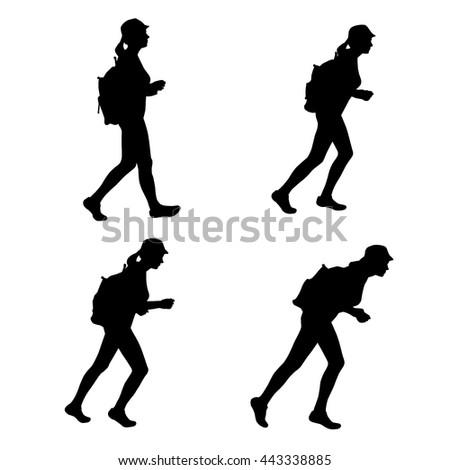 Walking Legs Silhouette