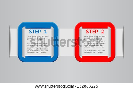 set of 2 frames - stock vector