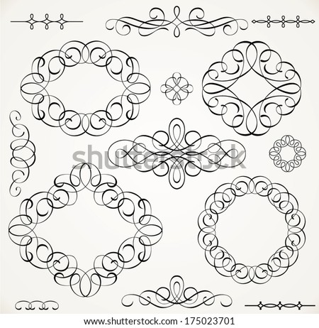 Set of frames - stock vector