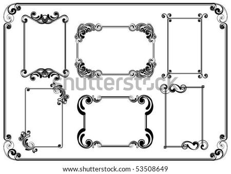 Set of frames - stock vector