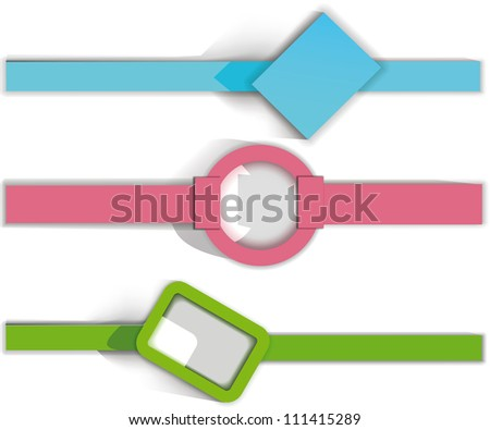 set of frames element for vector banners. Eps10 .Image contain transparency and various blending modes - stock vector