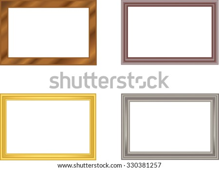 Set Frames Gold Silver Plastic Wood Stock Photo (Photo, Vector ...