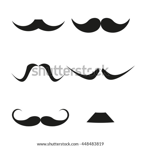 Set of funny mustache