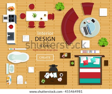 Modern Furniture Top View chair top view stock images, royalty-free images & vectors