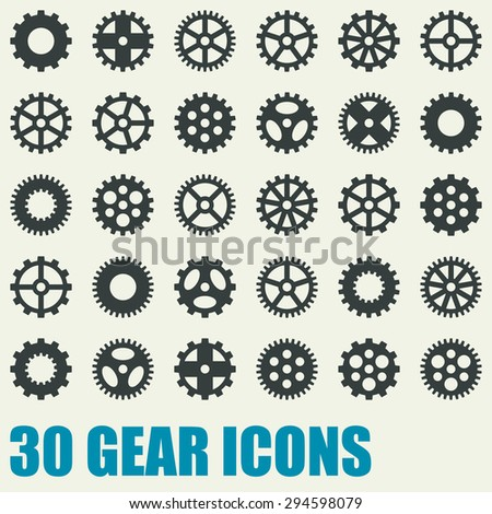 Set of gear icons - stock vector