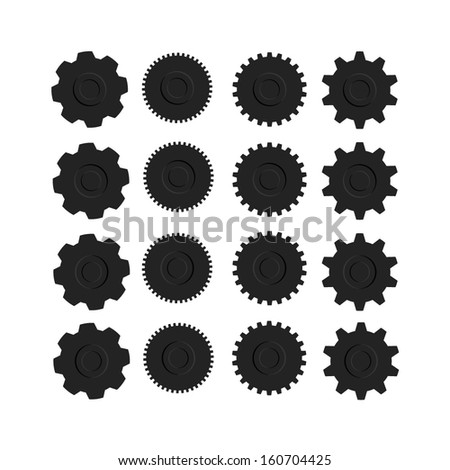 Set of Gears - Vector Illustration - stock vector