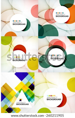 Set of geometric abstract backgrounds, small collection