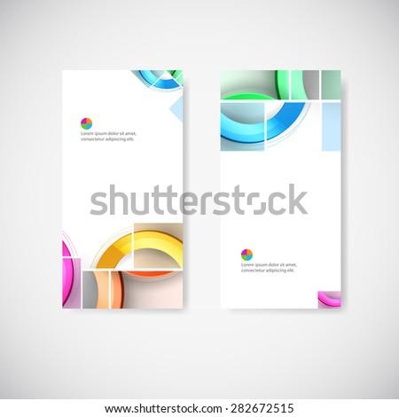 Set of geometric banners for modern design - stock vector