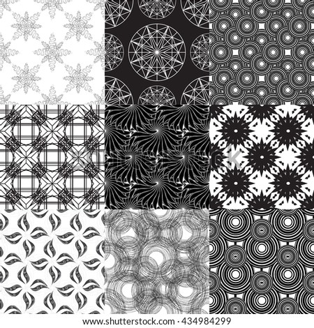 Set of geometric pattern part 3. - stock vector