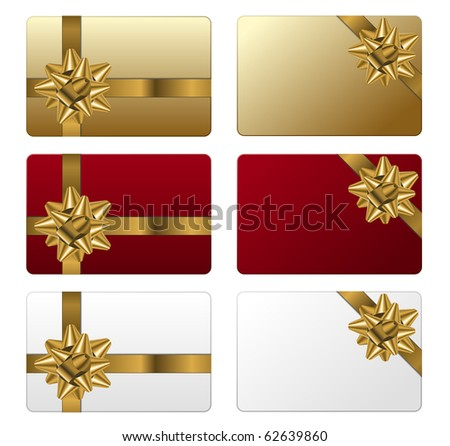Set of gift cards - stock vector