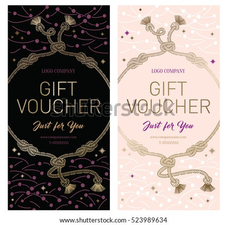 Set gift premium certificate gift card stock vector 523989634 set of gift premium certificate gift card gift voucher coupon template background negle Gallery