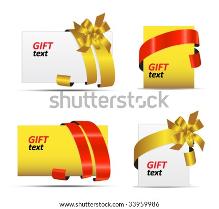 set of gift tags - stock vector