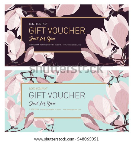 Set gift voucher gift card gift stock vector 548065051 shutterstock set of gift voucher gift card gift certificate coupon template background for yadclub Image collections