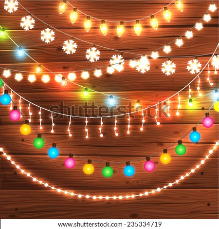 Christmas Lights Stock Images Royalty Free Images Vectors  - Christmas Light Design