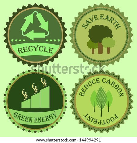 Set of go green collections, stock vector - stock vector