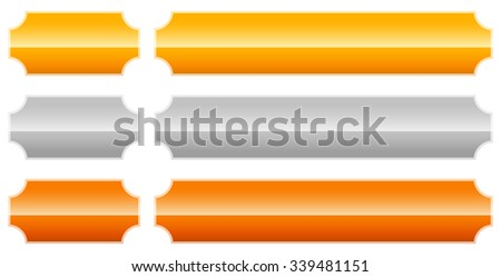 Set of  gold, silver, bronze.plaque, plaquette, banner backgrounds. - stock vector