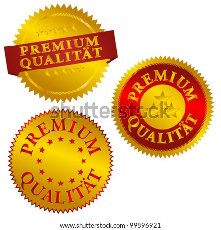 Set of Golden Premium Quality Seals in German