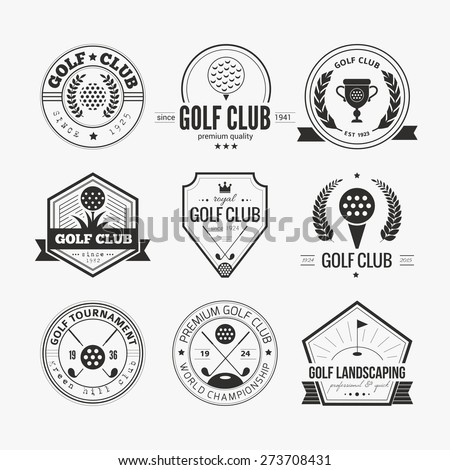 golf logo stock images royalty free images vectors shutterstock. Black Bedroom Furniture Sets. Home Design Ideas