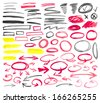 Set of graphic signs. Vector illustration. - stock vector
