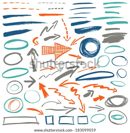 Set of graphic signs. Vector illustration - stock vector