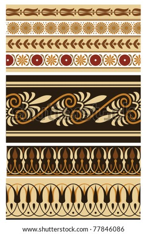 Set of greek vector ornament and borders