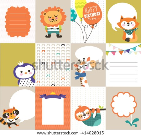 Set of greeting card templates with space for your text/ message