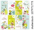 set of greeting cards - stock