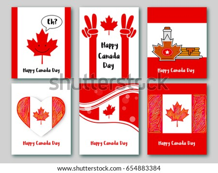 Set greeting cards national colors canada stock vector royalty free set of greeting cards in national colors of the canada vector card canada day m4hsunfo
